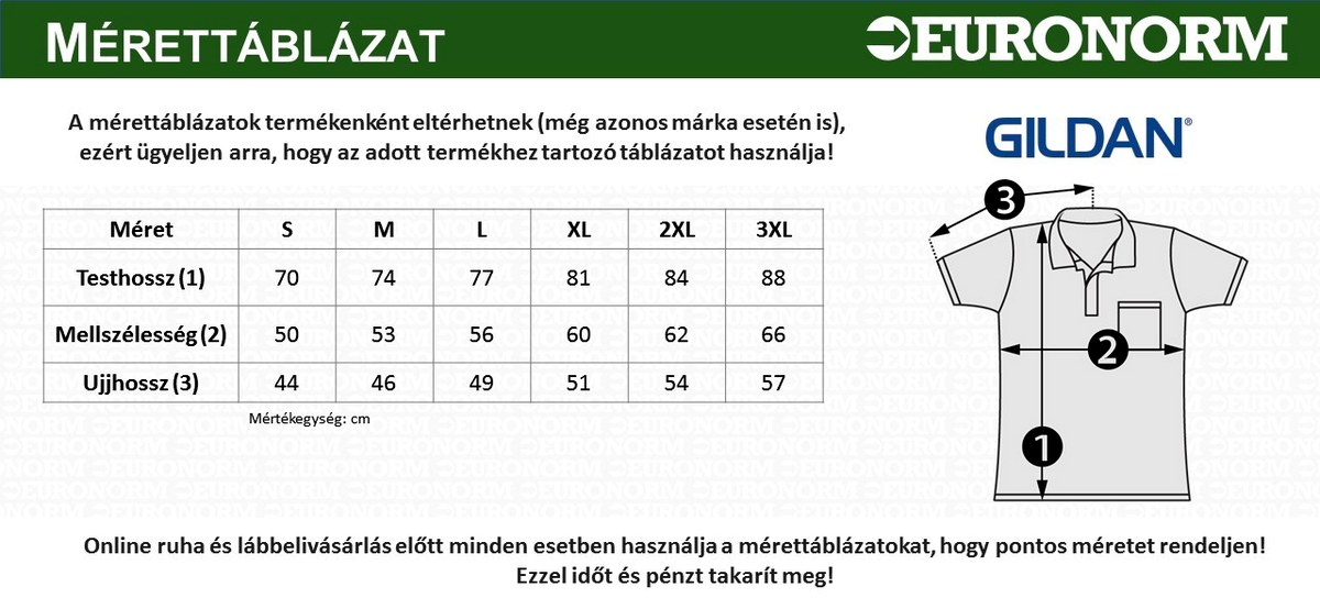 Gildan Premium Cotton galléros póló (S f1f697fb05